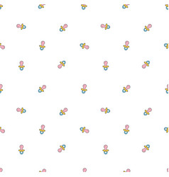 seamless background with baby pacifier simple vector image