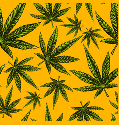 Seamless cannabis pattern vector