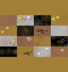Set of mothers day card design of carnation flower vector