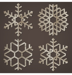 Snowflakes of old paper vector image