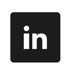 Social media symbol linkedin vector