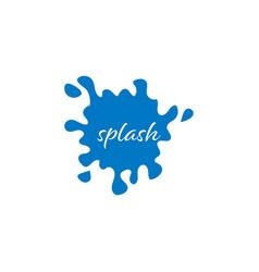 splash water blue graphic design template vector image