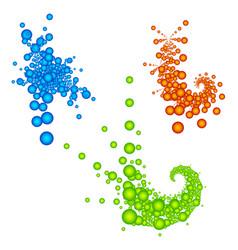 Stylish fractal like elements abstract random vector