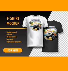 t-shirt template fully editable with vintage off vector image