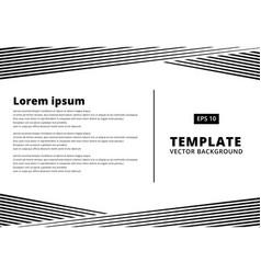 Template presentation striped line pattern black vector