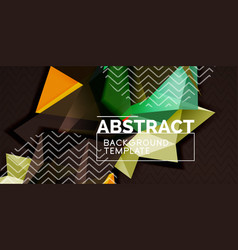 triangular 3d geometric shapes background vector image