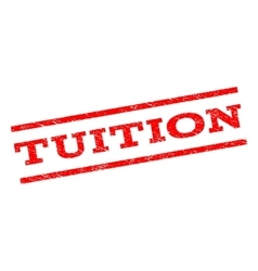 Tuition Watermark Stamp vector image