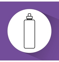 Water bottle round icon vector image