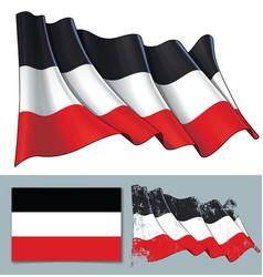 waving flag german empire vector image