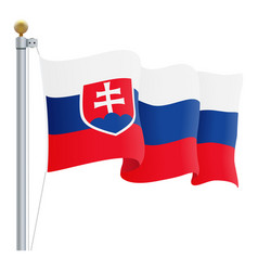 waving slovakia flag isolated on a white vector image
