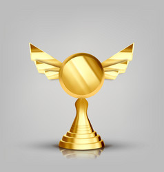 winner golden cup gilded metal object vector image