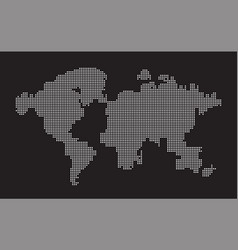 world map point dots composition representing the vector image