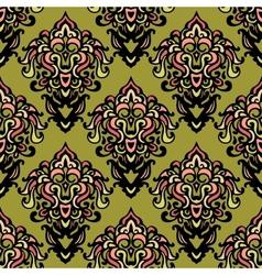 ethnic damask seamless pattern background vector image vector image