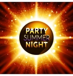 flyer template for summer night party vector image vector image
