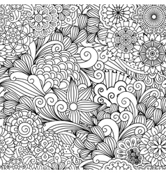 Seamless ornamental full frame background vector image vector image