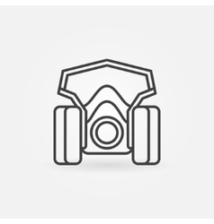 Spray paint mask icon vector