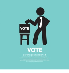 Vote Ballot Black Symbol vector image