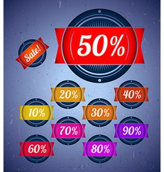 Set of sale labels with ribbons vector image