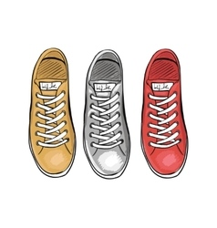 Summer trendy sports shoes The collection of vector image vector image