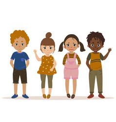 boys and girls kid set cartoon vector image vector image