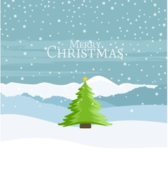 Christmas Landscape vector image vector image