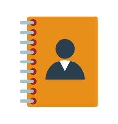 contacts address book vector image