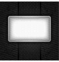 metallic grunge template perforated iron sheet vector image vector image