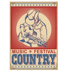 music festival background with musician playing vector image vector image