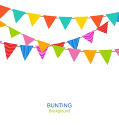 Set Bunting Pennants vector image vector image