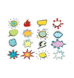 set colored comic bubbles vector image vector image