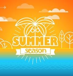 Travel Summer season concept vector image vector image