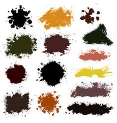 brush strokes set 015 vector image vector image
