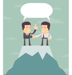 Business man on top vector image
