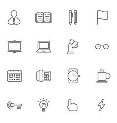 business office icon set vector image