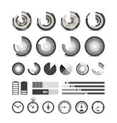 Different chart and indicators collection vector image