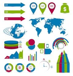 Set detail infographic elements vector image vector image