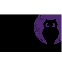 Silhouette of owl halloween backgrounds vector image vector image