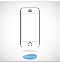 Smartphone line icon vector image vector image