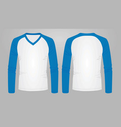 two color long sleeve t shirt vector image vector image