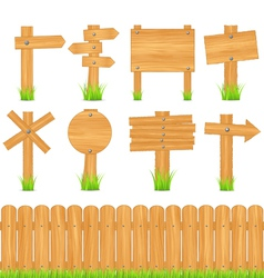 wooden objects vector image vector image