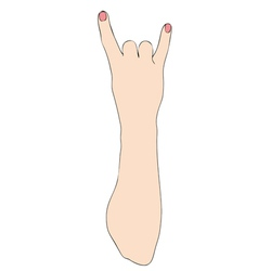A typical Italian gesture vector