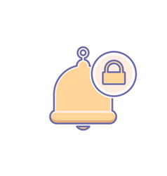 Alarm alert bell icon call lock vector