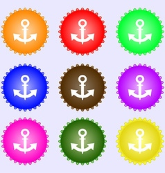Anchor Icon sign Big set of colorful diverse vector