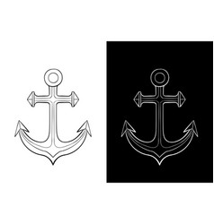 anchor outline drawing vector image