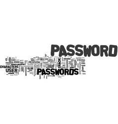 Best passwords text word cloud concept vector