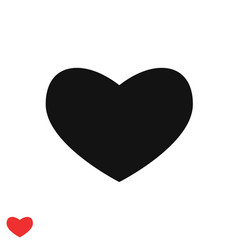 black heart icon wide heart pattern vector image