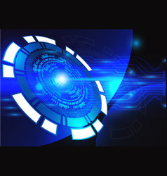 Blue technology background abstract digital tech vector