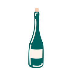 bottle of wine without label isolated icon vector image