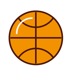 brightly basket ball cartoon vector image