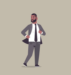 Businessman in formal wear standing pose smiling vector